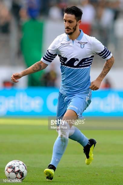 Luis Alberto of SS Lazio in actin during the Borussia Dortmund v Lazio PreSeason Friendly at the Essen Stadium on August 12 2018 in Essen Germany
