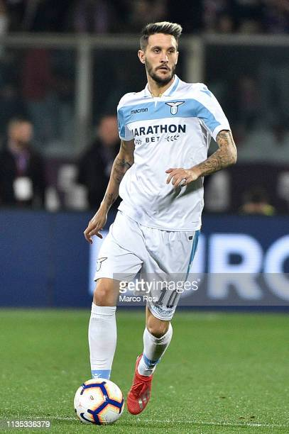 Luis Alberto of SS Lazio in action during the Serie A match between ACF Fiorentina and SS Lazio at Stadio Artemio Franchi on March 10 2019 in...