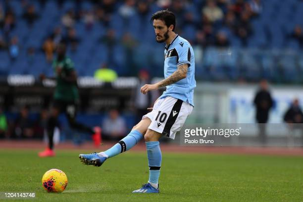 Luis Alberto of SS Lazio in action during the Serie A match between SS Lazio and Bologna FC at Stadio Olimpico on February 29 2020 in Rome Italy