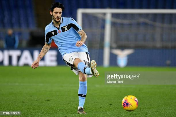 Luis Alberto of SS Lazio in action during the Serie A match between SS Lazio and Hellas Verona at Stadio Olimpico on February 05 2020 in Rome Italy