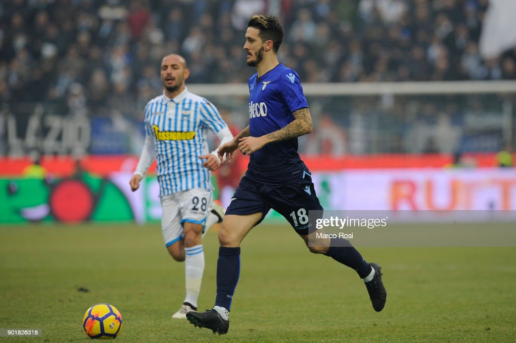 Luis Alberto of SS Lazio in action during the serie A match between Spal and SS Lazio at Stadio Paolo Mazza on January 6, 2018 in Ferrara, Italy.