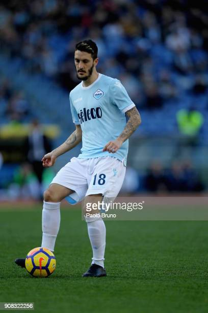 Luis Alberto of SS Lazio in action during the Serie A match between SS Lazio and AC Chievo Verona at Stadio Olimpico on January 21 2018 in Rome Italy