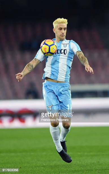 Luis Alberto of SS Lazio in action during the serie A match between SSC Napoli and SS Lazio at Stadio San Paolo on February 10 2018 in Naples Italy