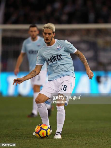 Luis Alberto of SS Lazio in action during the serie A match between SS Lazio and Juventus at Stadio Olimpico on March 3 2018 in Rome Italy