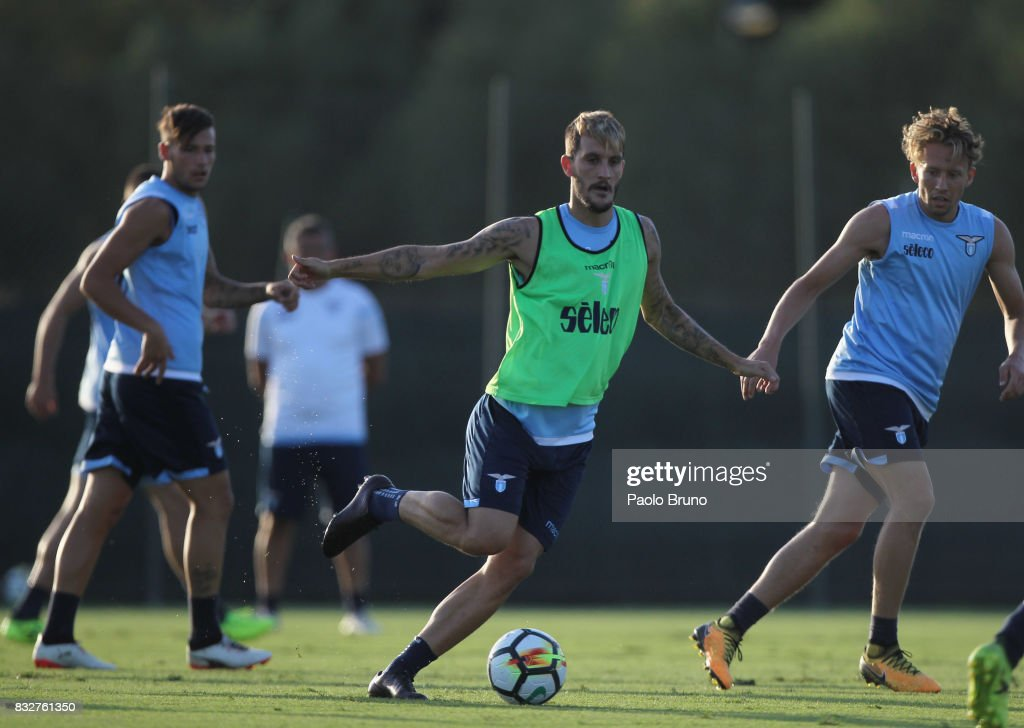 Luis Alberto of SS Lazio in action during the SS Lazio training session on August 16, 2017 in Rome, Italy.