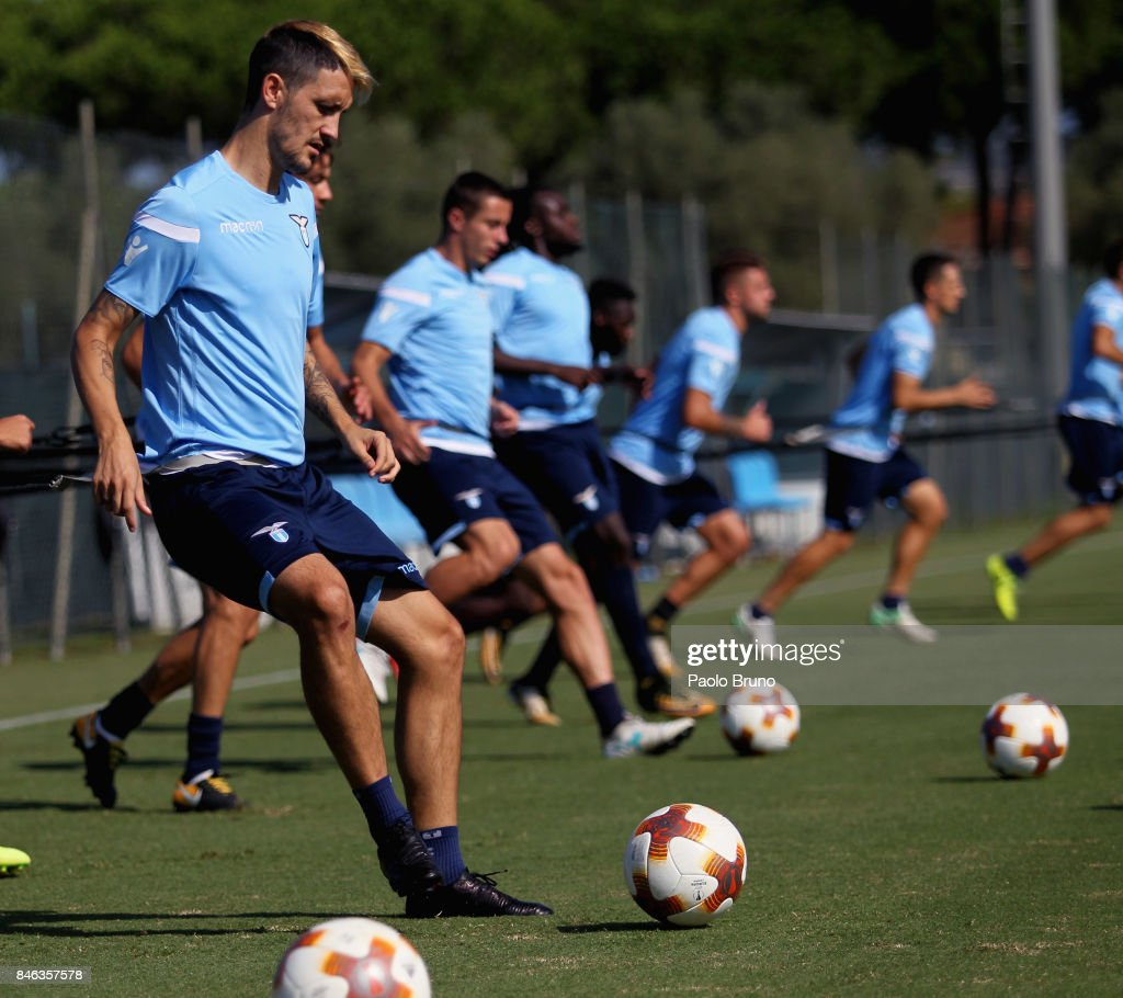 Luis Alberto of SS Lazio in action during the SS Lazio training session on September 13, 2017 in Rome, Italy.