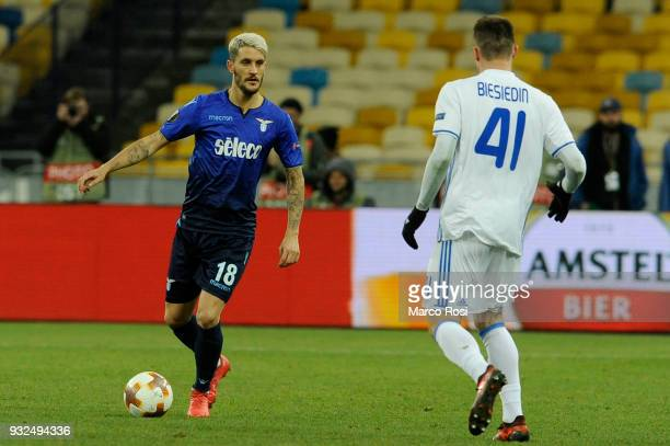 Luis Alberto of SS Lazio in action during UEFA Europa League Round of 16 match between Dynamo Kiev and Lazio at the on March 15 2018 in Kiev Ukraine