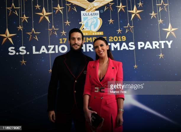 Luis Alberto of SS Lazio poses with his wife during the SS Lazio xmas dinner at SpazioNovecento on December 17 2019 in Rome Italy