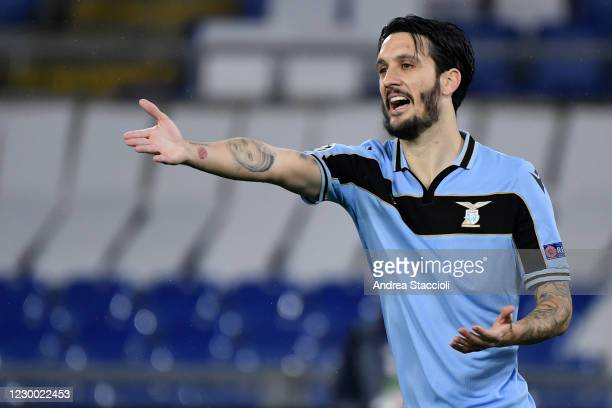 Luis Alberto of SS Lazio reacts during the Champions League Group Stage F football match between SS Lazio and Club Brugge. SS Lazio and Club Brugge...