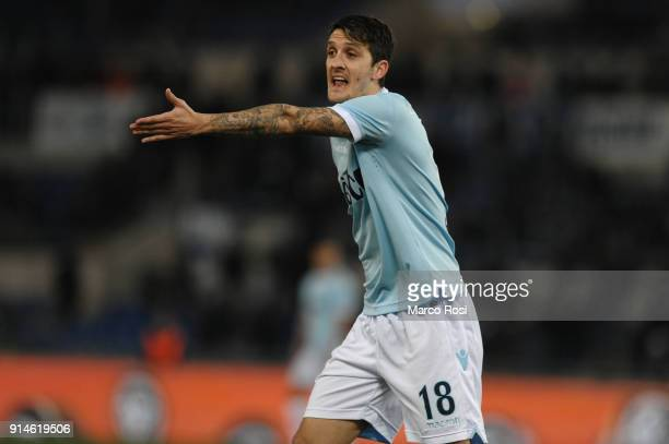 Luis Alberto of SS Lazio reacts during the Serie A match between SS Lazio and Genoa at Stadio Olimpico on February 5 2018 in Rome Italy