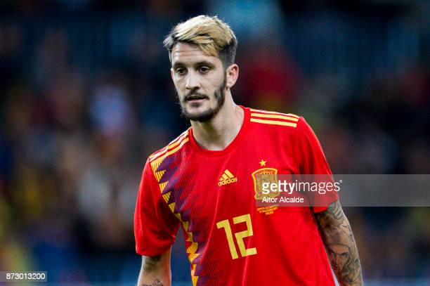 Luis Alberto Romero of Spain reacts during the international friendly match between Spain and Costa Rica at La Rosaleda Stadium on November 11 2017...