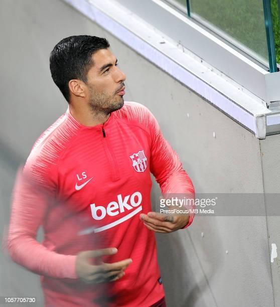 Luis Alberto Suarez Diaz during the FC Barcelona training session at San Siro Stadium on November 5 2018 in Milan Italy