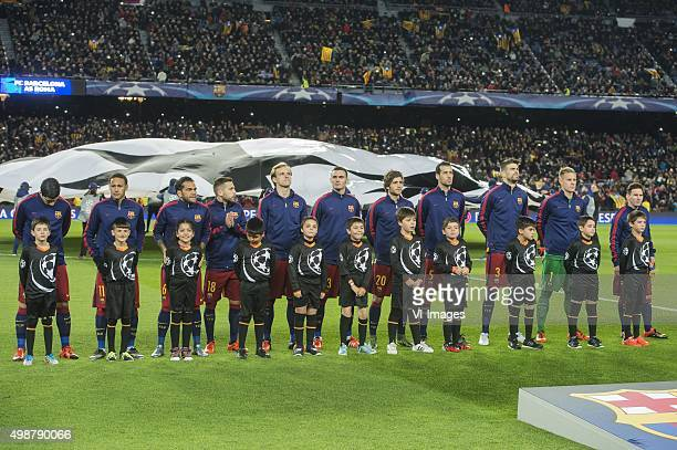 Luis Alberto Suarez Diaz of FC Barcelona Neymar da Silva Santos Junior of FC Barcelona Daniel Alves da Silva of FC Barcelona Jordi Alba Ramos of FC...