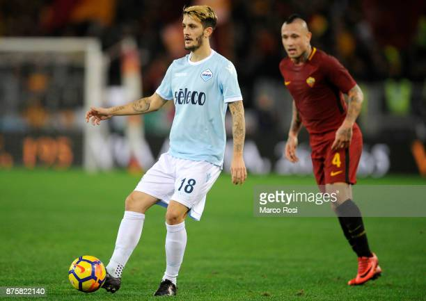 Luis Albeto of SS Lazio during the Serie A match between AS Roma and SS Lazio at Stadio Olimpico on November 18 2017 in Rome Italy