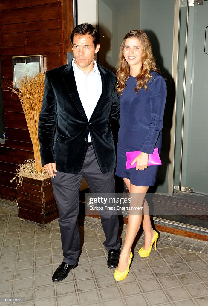Luis Alfonso de Borbon and his wife Margarita Vargas are seen on April 25, 2013 in Madrid, Spain.