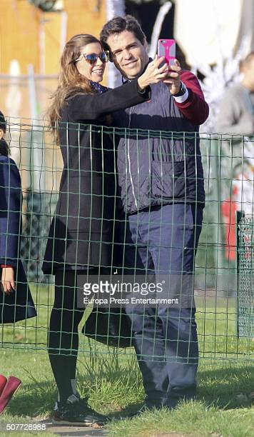 Luis Alfonso de Borbon and Margarita Vargas are seen going for tourism on December 19 2015 in Paris France