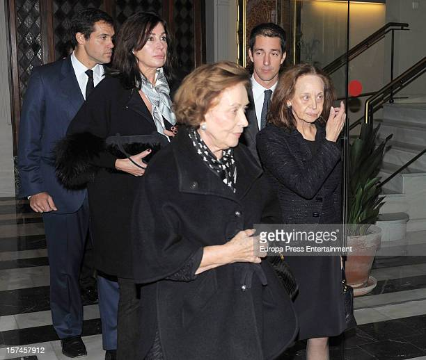 Luis Alfonso de Borbon Carmen Franco Baroness of Alacuas Amparo Corell and Carmen Martinez Bordiu attend the funeral and burial for Baron of Alacuas...