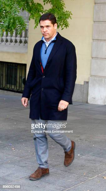 Luis Alfonso de Borbon is seen visiting Carmen Franco on November 20 2017 in Madrid Spain