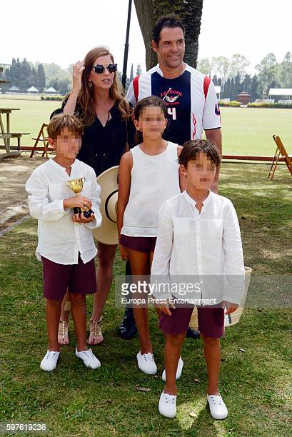 Luis Alfonso de Borbon Margarita Vargas and their twin sons Luis de Borbon and Alfonso de Borbon and their daughter Eugenia de Borbon attend the...