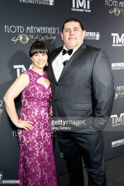 Luis and Christina Flores attend Floyd Mayweather's 40th Birthday Celebration on February 25 2017 in Los Angeles California