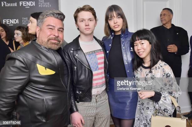Luis Barajas Jack Kilmer Eva Dolezalova and MuiHai Chu attend FENDI x Flaunt Celebrate The New Fantasy Issue at Casa Perfect on March 21 2018 in...