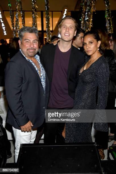 Luis Barajas Matthew Bedard and Jesse Jo Stark attend Chrome Hearts Baccarat celebrate The Miami Design District with Jesse Jo Stark Mary Anne...