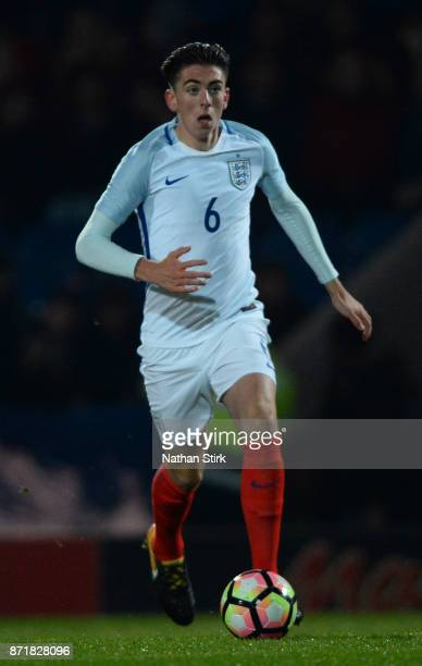 Luis Binks of England U17s in action during the International Match between England U17 and Portugal U17 at Proact Stadium on November 8 2017 in...