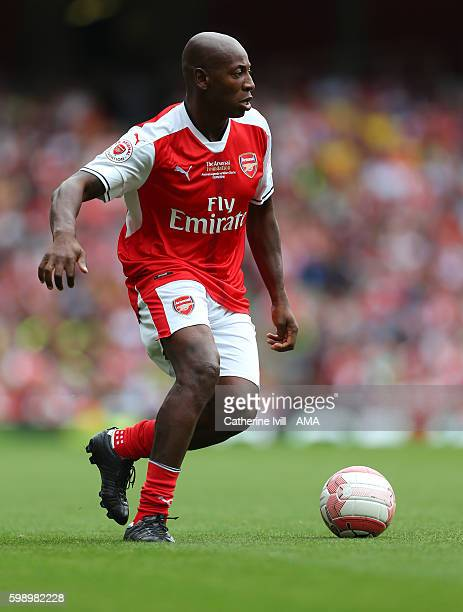 Luis Boa Morte of Arsenal Legends during the Arsenal Foundation Charity match between Arsenal Legends and Milan Glorie at Emirates Stadium on...