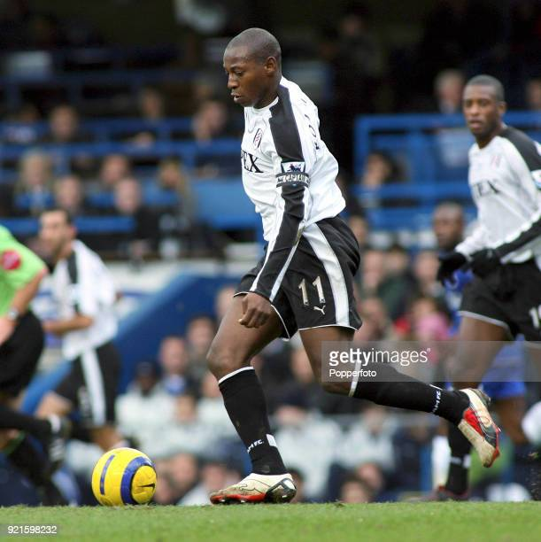 Luis Boa Morte of Fulham in action during the Barclays Premiership match between Chelsea and Fulham at Stamford Bridge in London on December 26,...