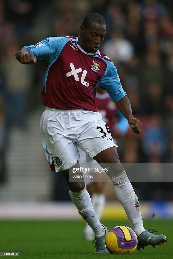 Luis Boa Morte of West Ham in action during the Barclays Premier League match between West Ham United and Tottenham Hotspur at Upton Park on November 25, 2007 in London, England.