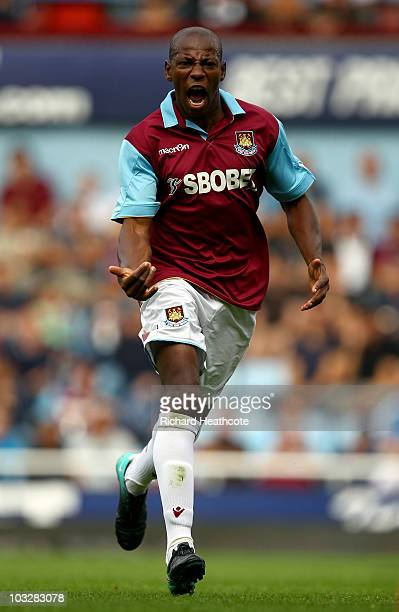 Luis Boa Morte of West Ham in action during the pre-season friendly match between West Ham United and Deportivo La Coruna at Upton Park on August 7,...