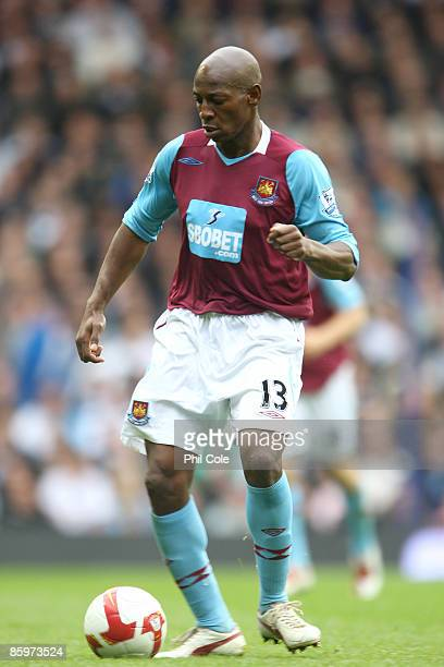 Luis Boa Morte of West Ham United during the Barclays Premier League match between Tottenham Hotspur and West Ham United at White Hart Lane on April...