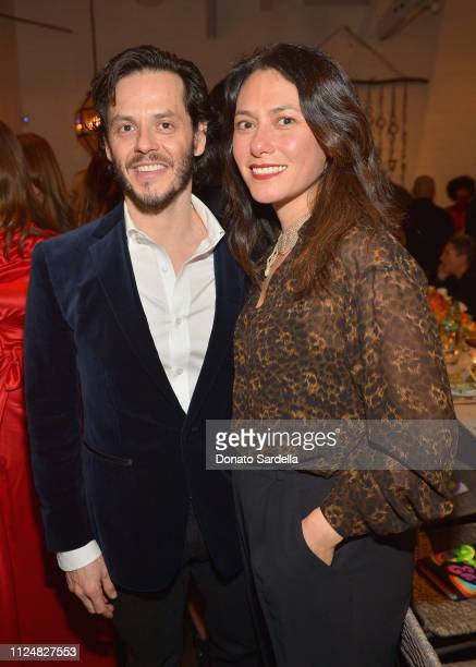 Luis Bobadilla and Danielle Steckler attend Liz Goldwyn and MATCHESFASHIONCOM celebrate the launch of Frieze LA at Gracias Madre on February 13 2019...