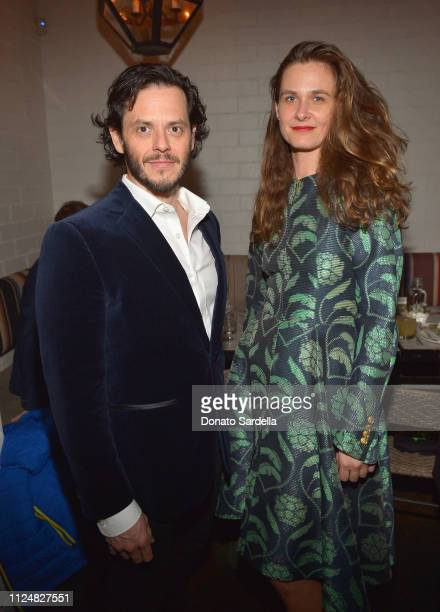 Luis Bobadilla and Emily Haven attend Liz Goldwyn and MATCHESFASHIONCOM celebrate the launch of Frieze LA at Gracias Madre on February 13 2019 in...