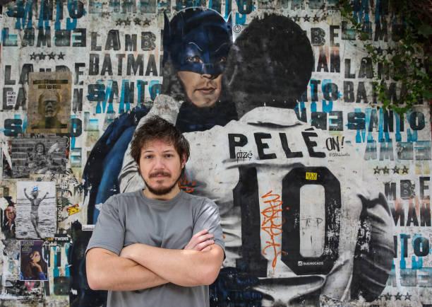 BRA: Exhibit and Urban Art Celebrate Pelé's 80th Birthday Amidst the Coronavirus (COVID - 19) Pandemic