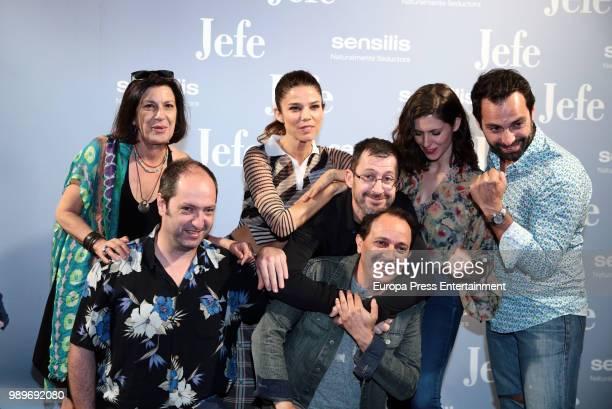 Luis Callejo Juana Acosta Barbara Santa Cruz Sergio Barrejon Carlo D'Ursi and Josean Bengoetxea attend 'El Jefe' photocall on July 2 2018 in Madrid...