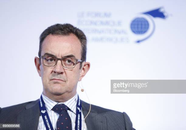 Luis Castilla chief executive officer of infrastructure at Acciona SA listens during the International Economic Forum Of The Americas in Montreal...