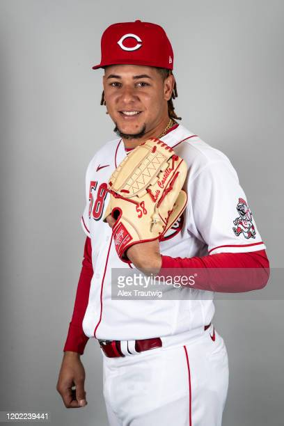 Luis Castillo of the Cincinnati Reds poses during Photo Day on Wednesday, February 19, 2020 at Goodyear Ballpark in Goodyear, Arizona.