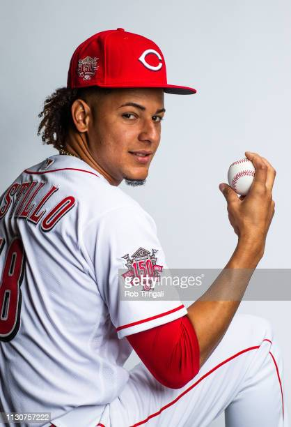 Luis Castillo of the Cincinnati Reds poses for a portrait at the Cincinnati Reds Player Development Complex on February 19 2019 in Goodyear Arizona