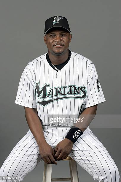 Luis Castillo of the Florida Marlins poses for a portrait during photo day at Roger Dean Stadium on February 26 2005 in Jupiter Florida
