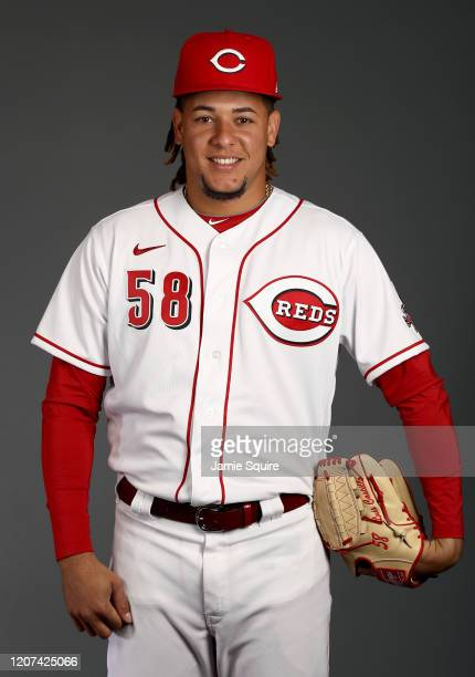 Luis Castillo poses during Cincinnati Reds Photo Day on February 19, 2020 in Goodyear, Arizona.