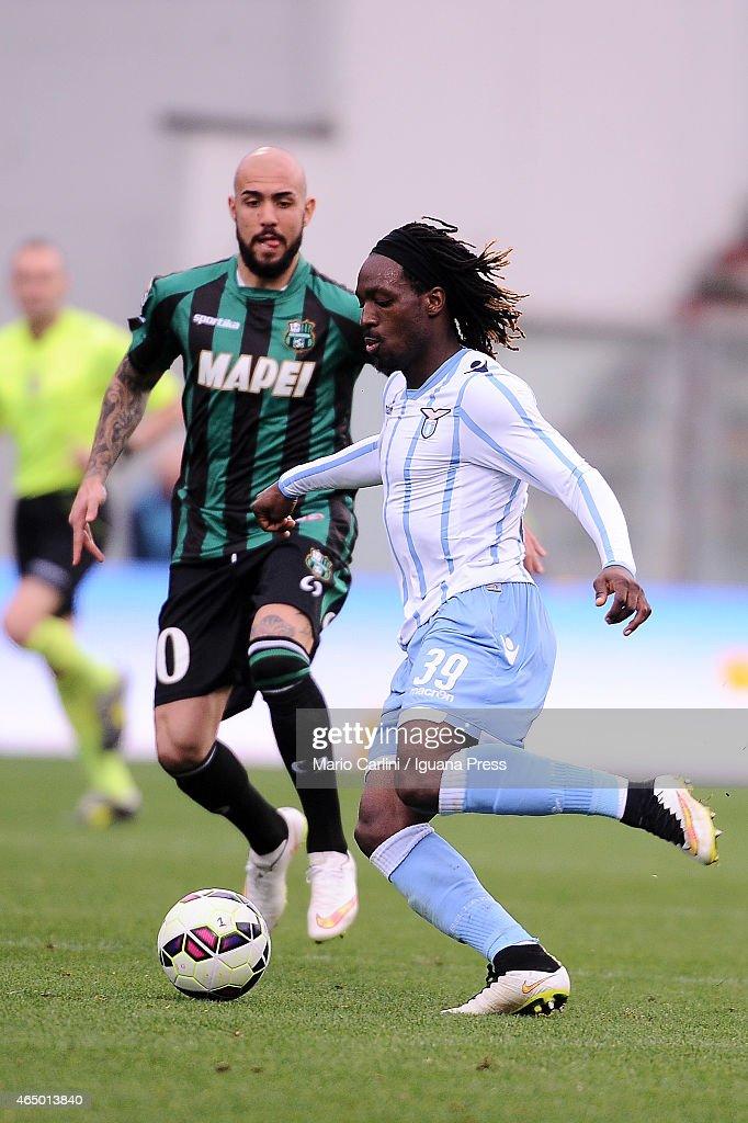 Luis Cavanda #39 of SS Lazio in action during the Serie A match between US Sassuolo Calcio and SS Lazio on March 1, 2015 in Reggio nell'Emilia, Italy.