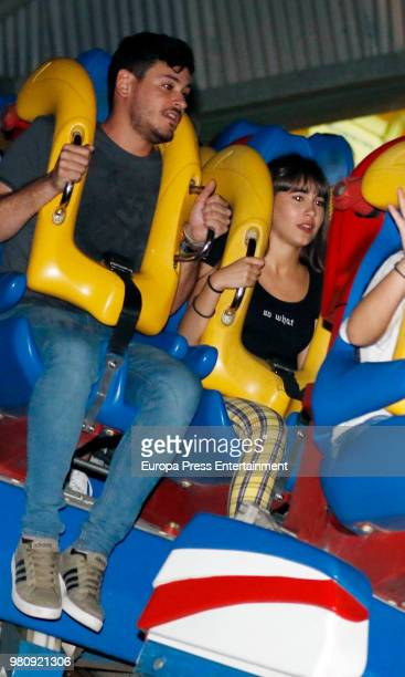 Luis Cepeda and Aitana Ocana attend Parque Warner Beach Summer Party on June 21 2018 in Madrid Spain