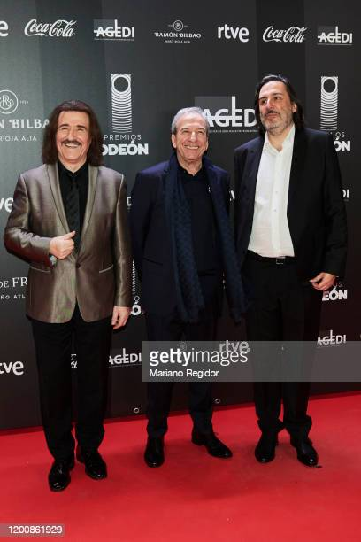 Luis Cobos Jose Luis Perales and Antonio Guisasola attend Odeon Awards 2020 at Royal Theater on January 20 2020 in Madrid Spain