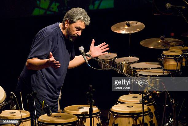 Luis Conte performs on stage at Sala Clap on June 14 2006 in Mataro Spain