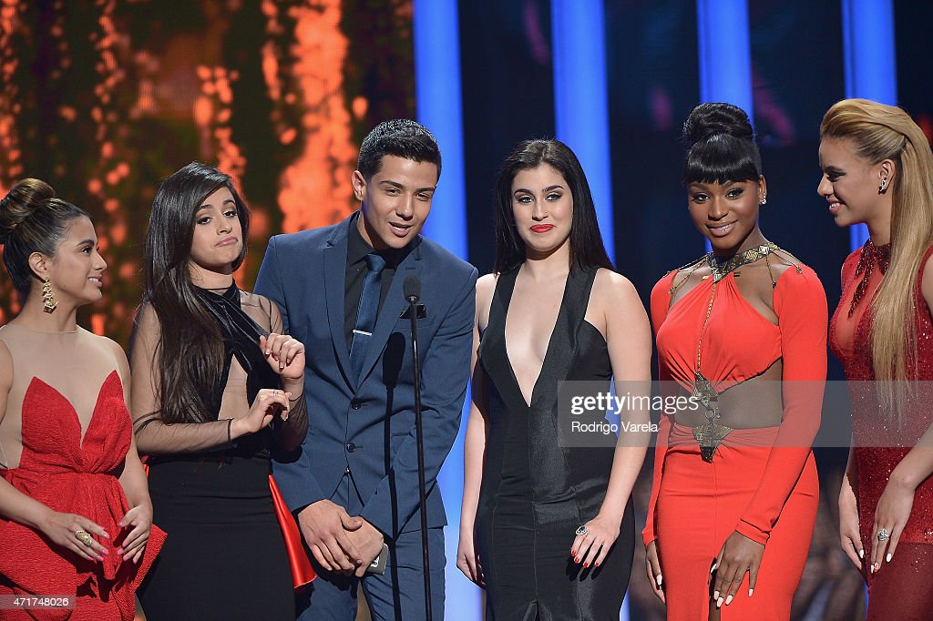 Luis Coronel And Fifth Harmony Onstage At The 2015 Billboard Latin