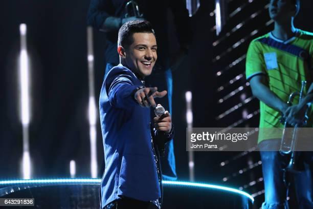Luis Coronel rehearses on stage at Univision's 29th Edition Of Premio Lo Nuestro A La Musica Latina Rehearsals Day 1 on February 20 2017 in Miami...