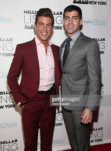 Luis D Ortiz and Daniel Ortiz attend 'Million Dollar Listing' Season 2 Finale Party at The General on July 31 2013 in New York City