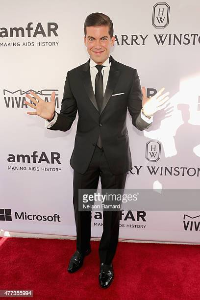 Luis D Ortiz attends the 2015 amfAR Inspiration Gala New York at Spring Studios on June 16 2015 in New York City