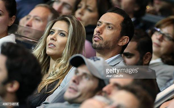 Luis de Carvalho better known as Nene and his wife Priscilla de Carvalho attend the French Ligue 1 match between Paris SaintGermain FC and AS Monaco...